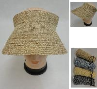 Ladies Velcro-Closure Visor [Tweed]
